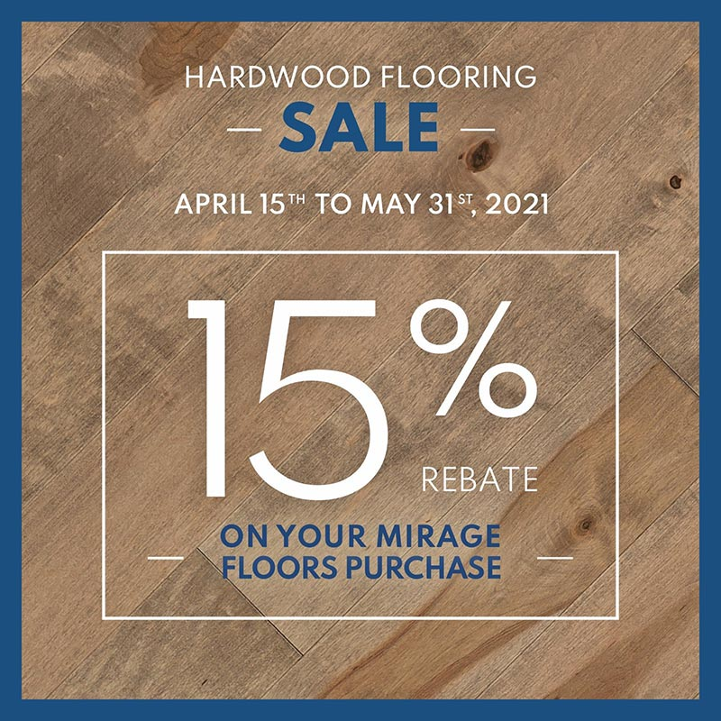Mirage Hardwood 15% Off til May 31st, 2021